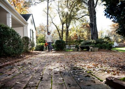 Husqvarna leaf blower and vacuum 125B 125BVX in action