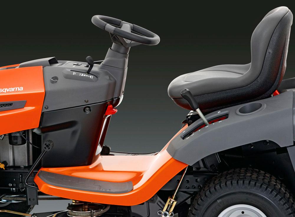 TC138 Ride On Lawnmower Husqvarna Galway Ergonomic Design